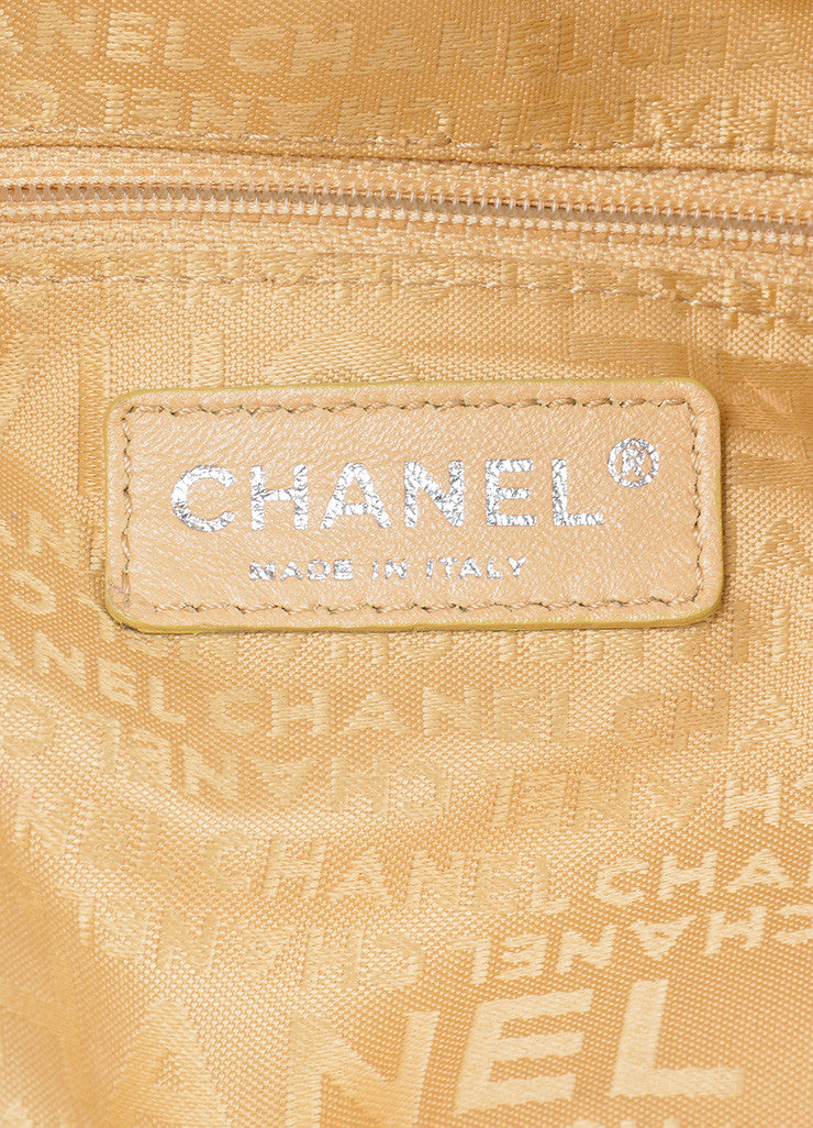 "Tan Leather Chanel 'CC' Logo Chain Strap ""Ultimate Soft"" Hobo Bag Brand"