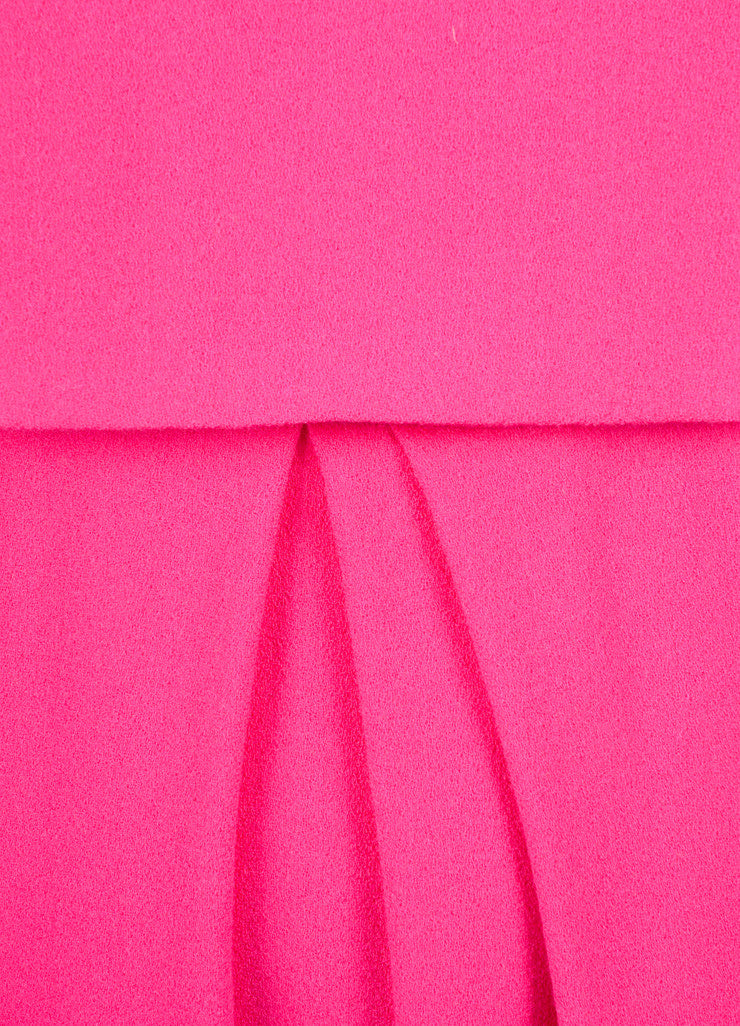 Christian Dior Fuchsia Wool Two Layer Sleeveless Dress Detail