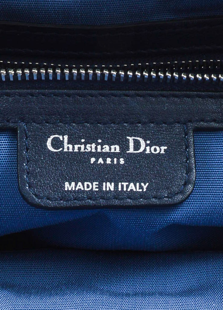 "Christian Dior Navy Leather Ruched ""Karenina"" Handbag Brand"