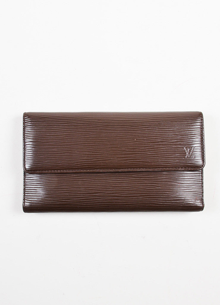 "Louis Vuitton Brown Epi Leather ""Porte Tresor International"" Wallet Frontview"