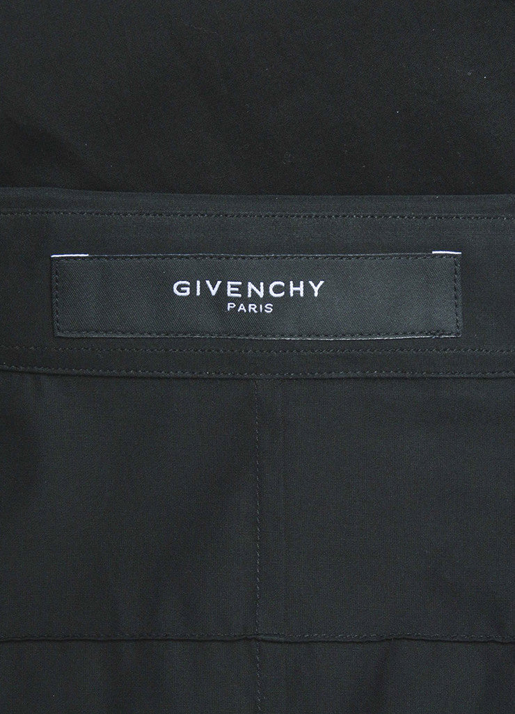 Men's Black Givenchy Cotton Cuban Fit Button Down Long Sleeve Shirt Brand