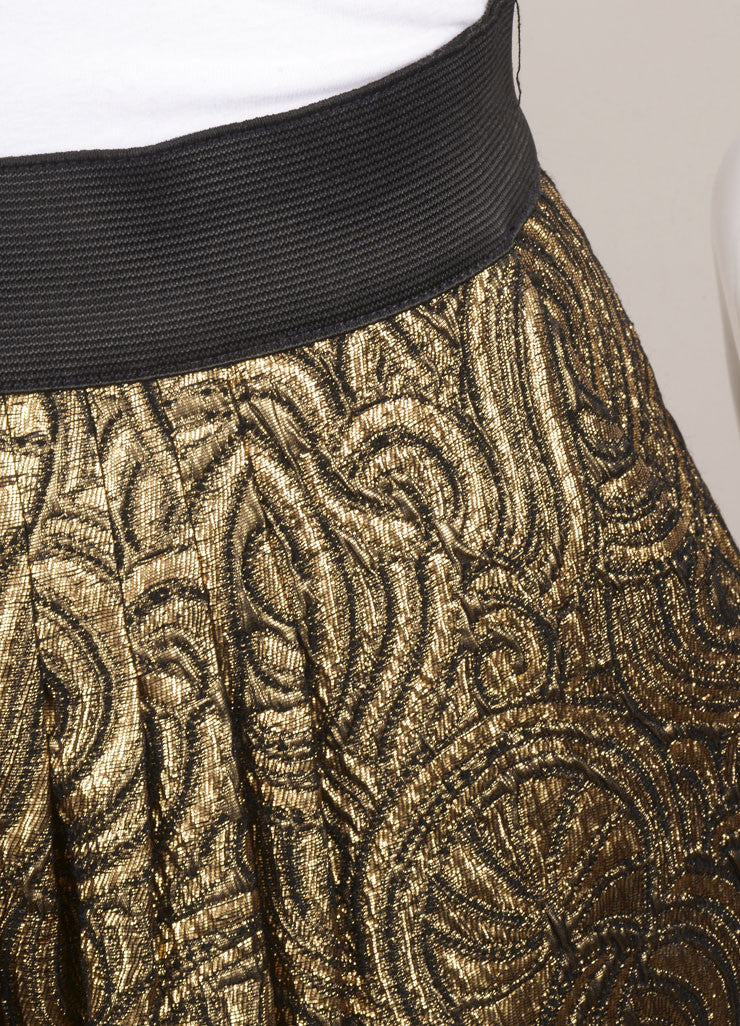 3.1 Phillip Lim Gold Brocade Mini Skirt Detail