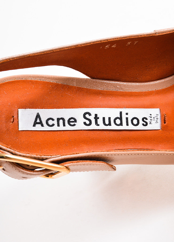 """Dusty Pink"" Acne Studios Leather Copper ""Odelia"" Slingback Pumps Brand"