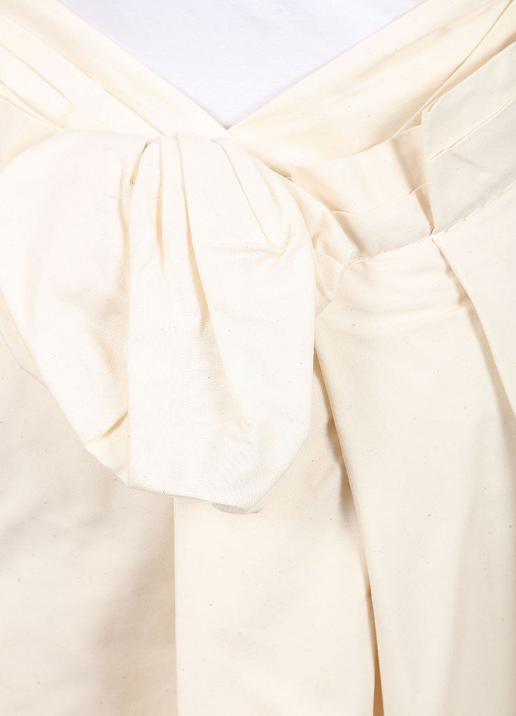Comme des Garcons New With Tags Cream Heavyweight Asymmetric Layered Cotton Skirt Detail