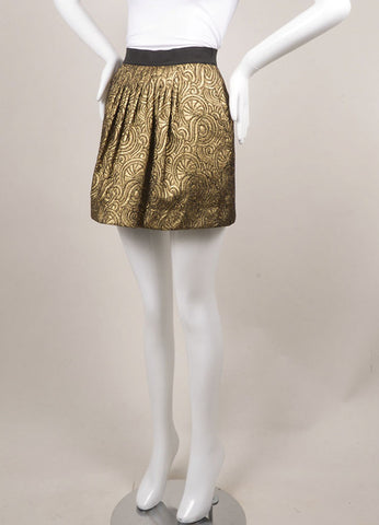 3.1 Phillip Lim Gold Brocade Mini Skirt Sideview