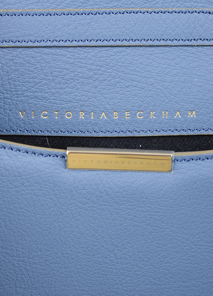 Victoria Beckham Blue and Grey Leather Mini Chain Satchel Bag Brand
