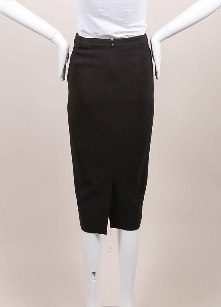 A.L.C. New With Tags Black Crystal Embellished Pencil Skirt Backview