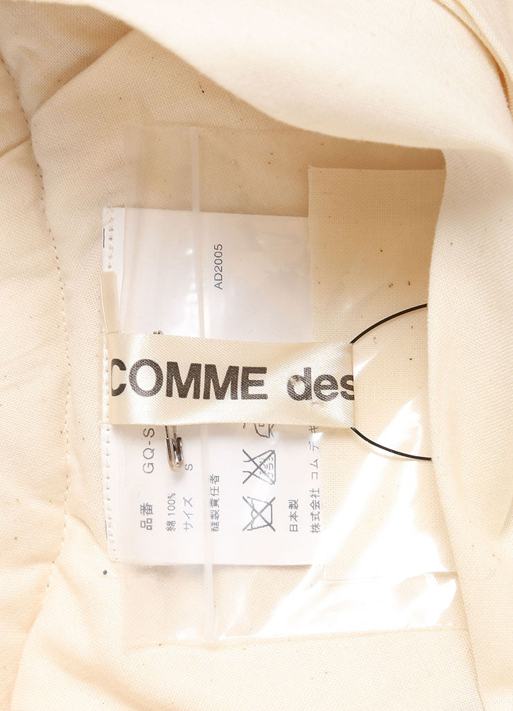 Comme des Garcons New With Tags Cream Heavyweight Asymmetric Layered Cotton Skirt Brand