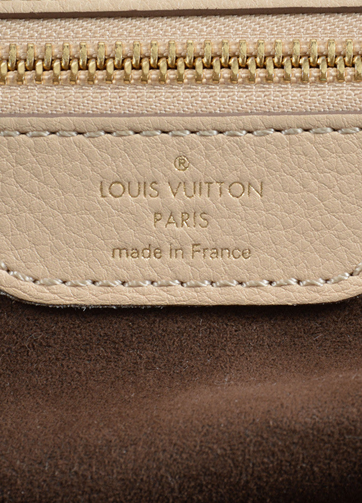 "Louis Vuitton Beige ""Sandy"" Perforated Monogram Leather ""Mahina L"" Shoulder Bag Brand"
