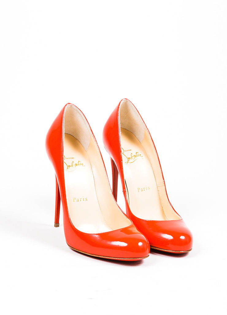 ef48cfda173 ... coupon for corazon red christian louboutin patent leather fifi 120 pumps  frontview 6dc93 89c00