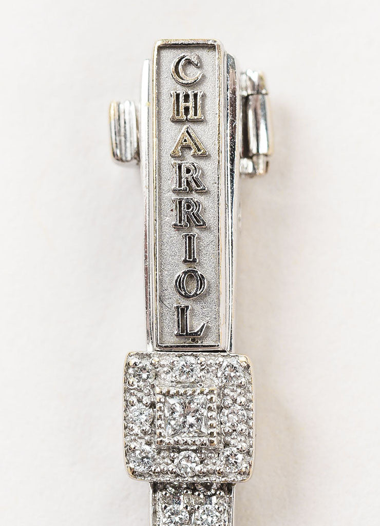 "Charriol 18K White Gold and Diamonds ""Flamme Blanche"" Tennis Bracelet Brand"