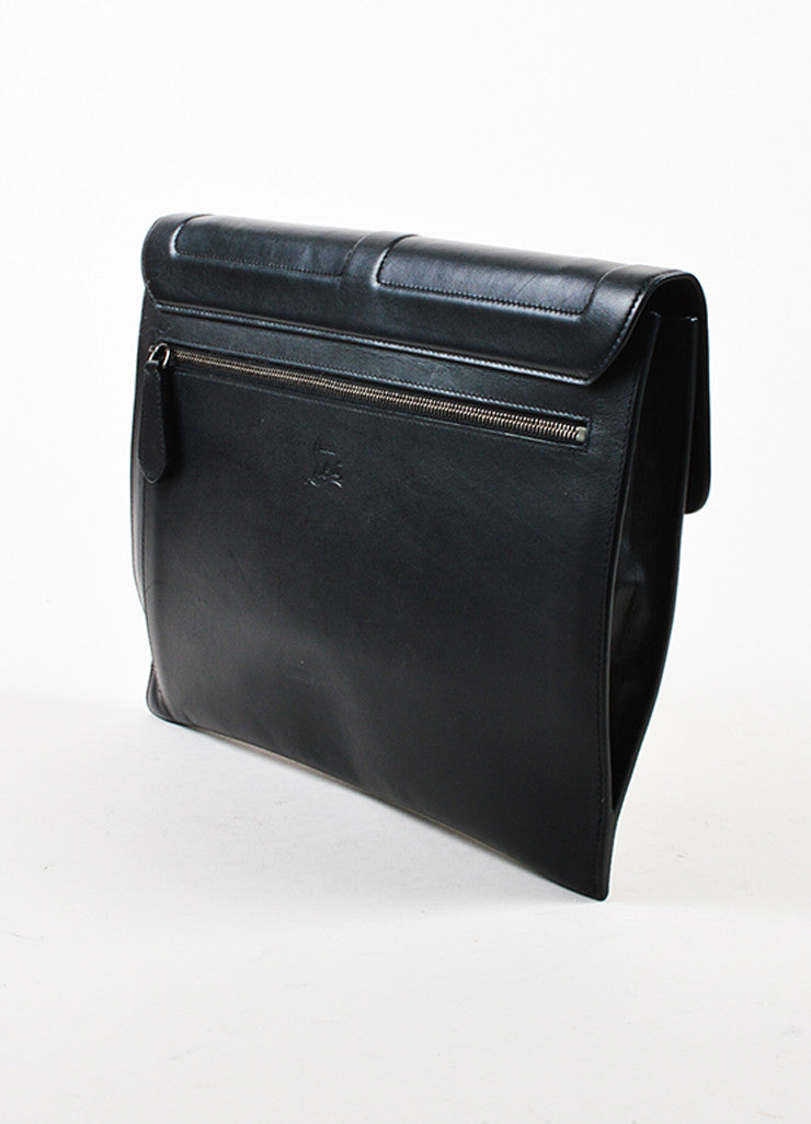 "Black Leather Christian Louboutin ""Sweet Charity Case"" Envelope Clutch Bag Sideview"