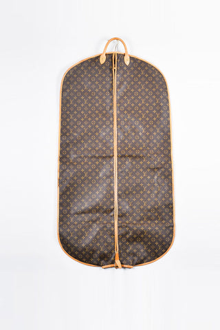 Louis Vuitton Brown and Tan Coated Canvas and Leather Monogram Garment Cover Bag Frontview