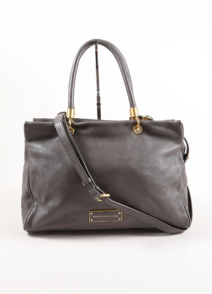 Marc by Marc Jacobs Taupe Leather Satchel Bag Front