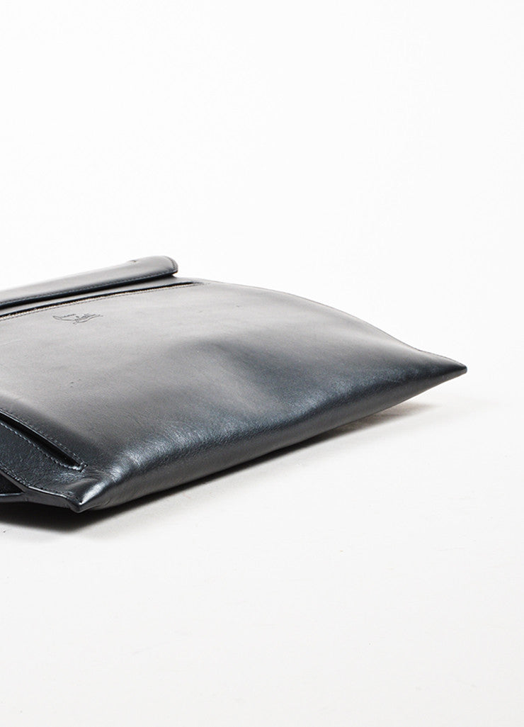 "Black Leather Christian Louboutin ""Sweet Charity Case"" Envelope Clutch Bag Bottom View"