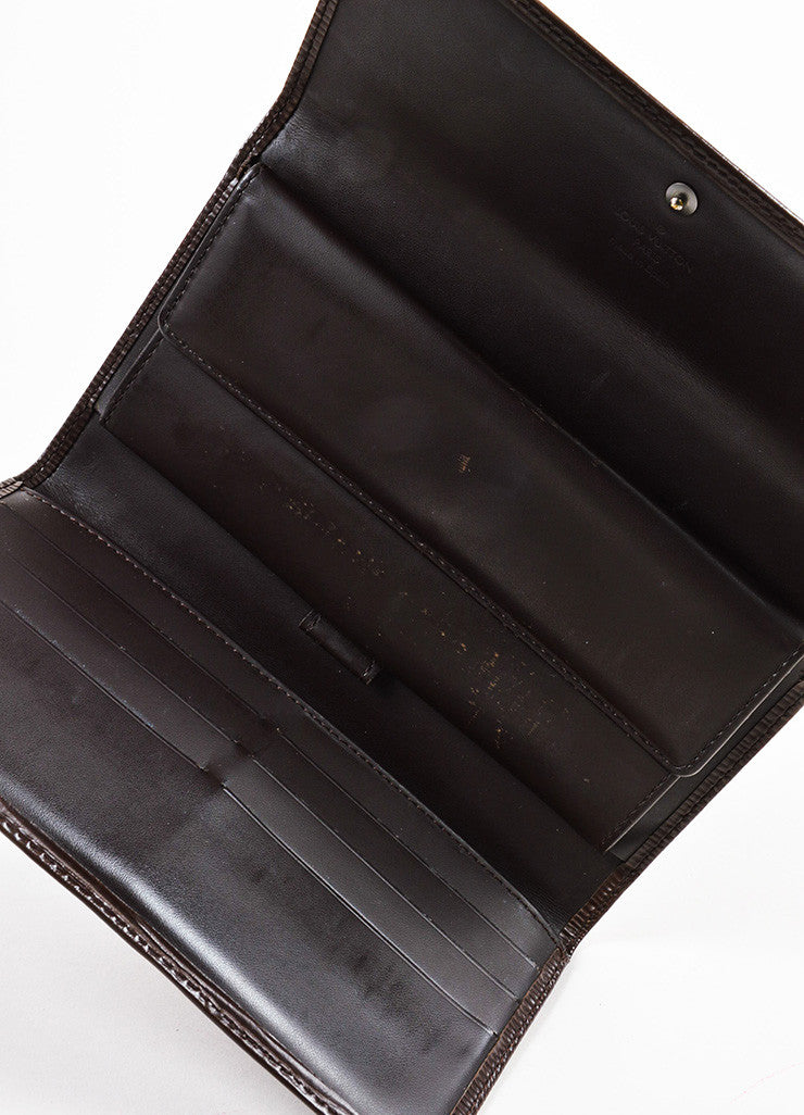 "Louis Vuitton Brown Epi Leather ""Porte Tresor International"" Wallet Interior"