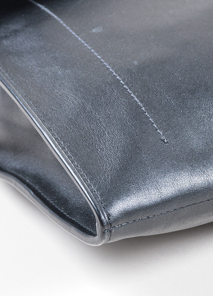 Black Reed Krakoff  Leather Flap Large Clutch Detail