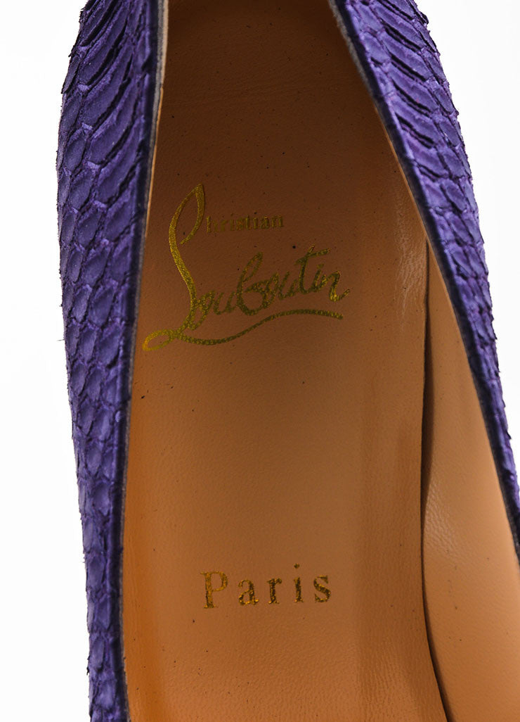 "Christian Louboutin Purple Watersnake Nubuck ""Palais Royal"" Pumps Brand"