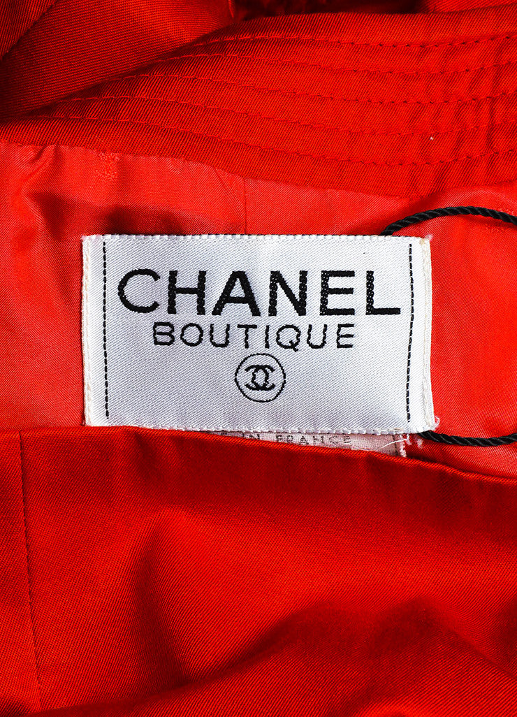 Chanel Boutique Red Perfume Bottle Button Double Breasted Jacket Brand