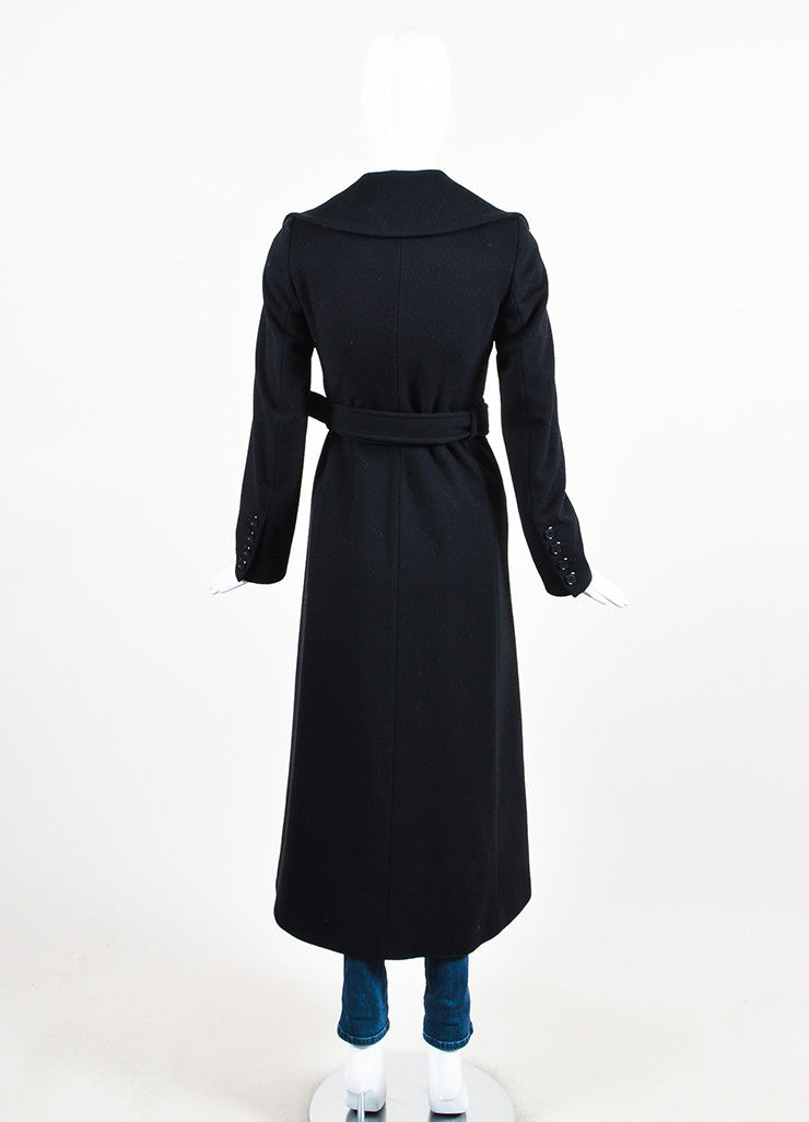 Burberry London Black Wool Cashmere Belted Maxi Coat – Luxury