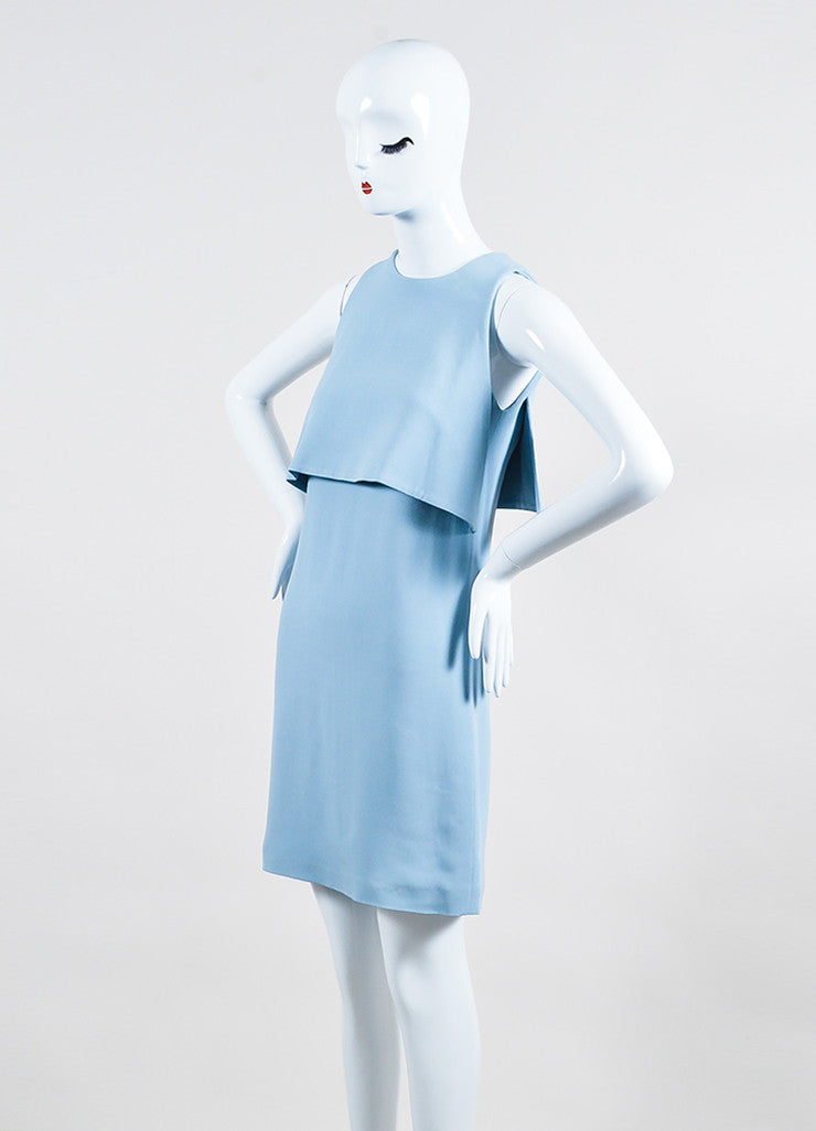 Christopher Kane Light Blue Sleeveless Triangle Bodice Dress Sideview