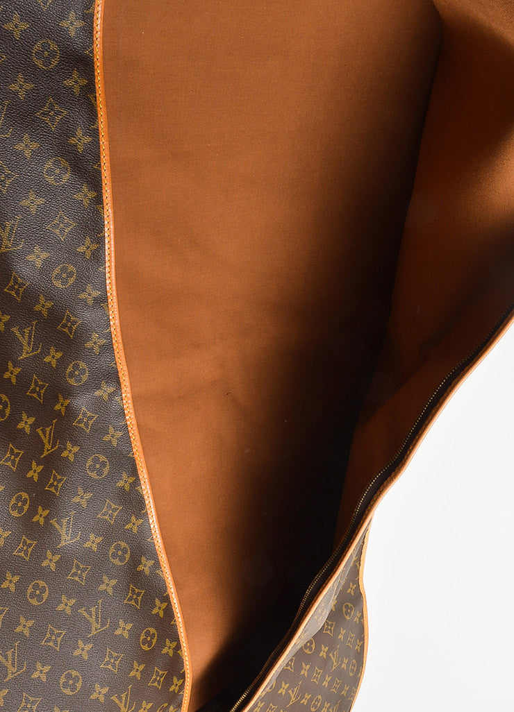 Louis Vuitton Brown and Tan Coated Canvas and Leather Monogram Garment Cover Bag