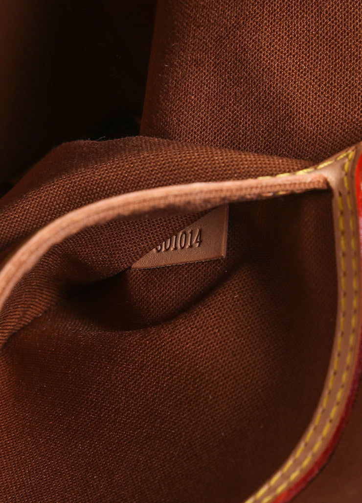"Louis vuittonBrown and Tan Coated Canvas Leather Monogram Logo ""Alma"" Handbag Brand"