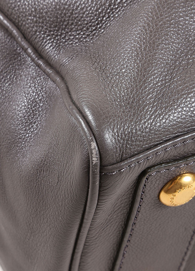 Marc by Marc Jacobs Taupe Leather Satchel Bag Detail