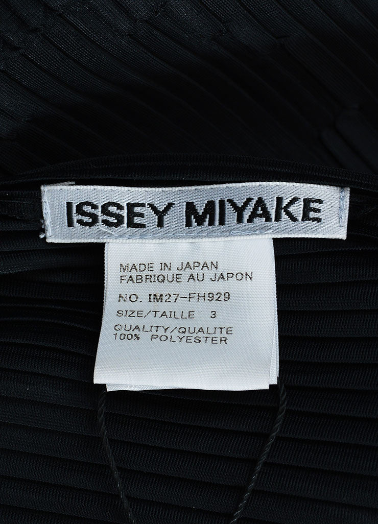 Black Issey Miyake Micro Pleat Textured Sleeveless Stand Collar Maxi Dress Brand