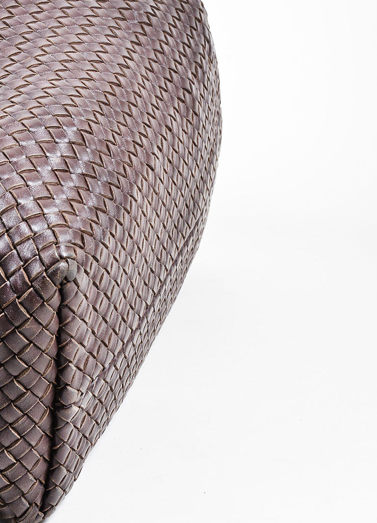 "Brown Bottega Veneta Woven Leather ""Medium Cabat"" Tote Detail 2"