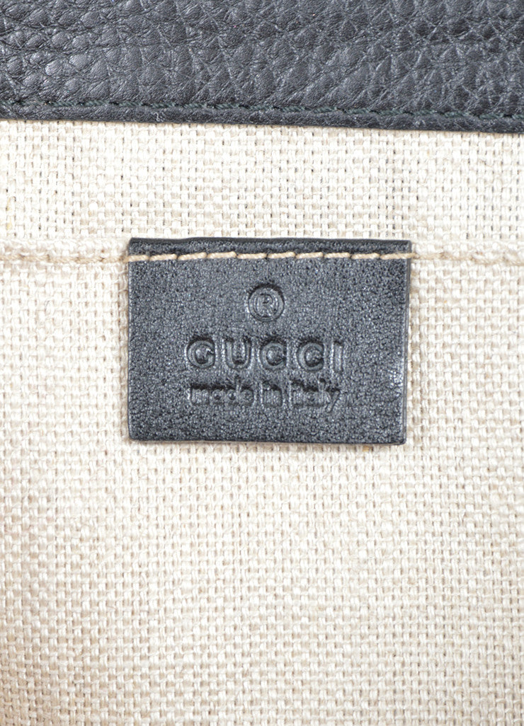"Black Gucci Python Leather ""Greenwich Evening Bag"" Chain Strap Clutch Bag Brand"