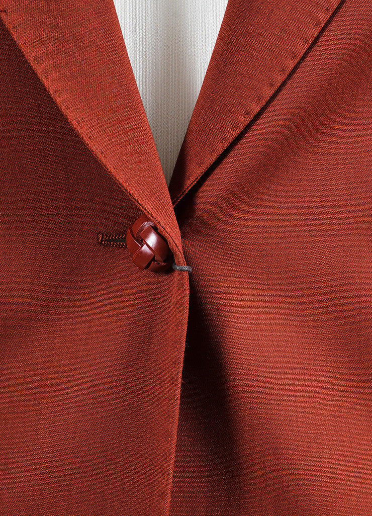 Brick Red Gucci Wool Long Sleeve Blazer Jacket Detail