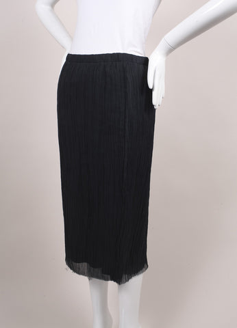 "The Row New With Tags ""Ink"" Grey Crinkled Georgette Silk ""Ahbria"" Skirt Sideview"
