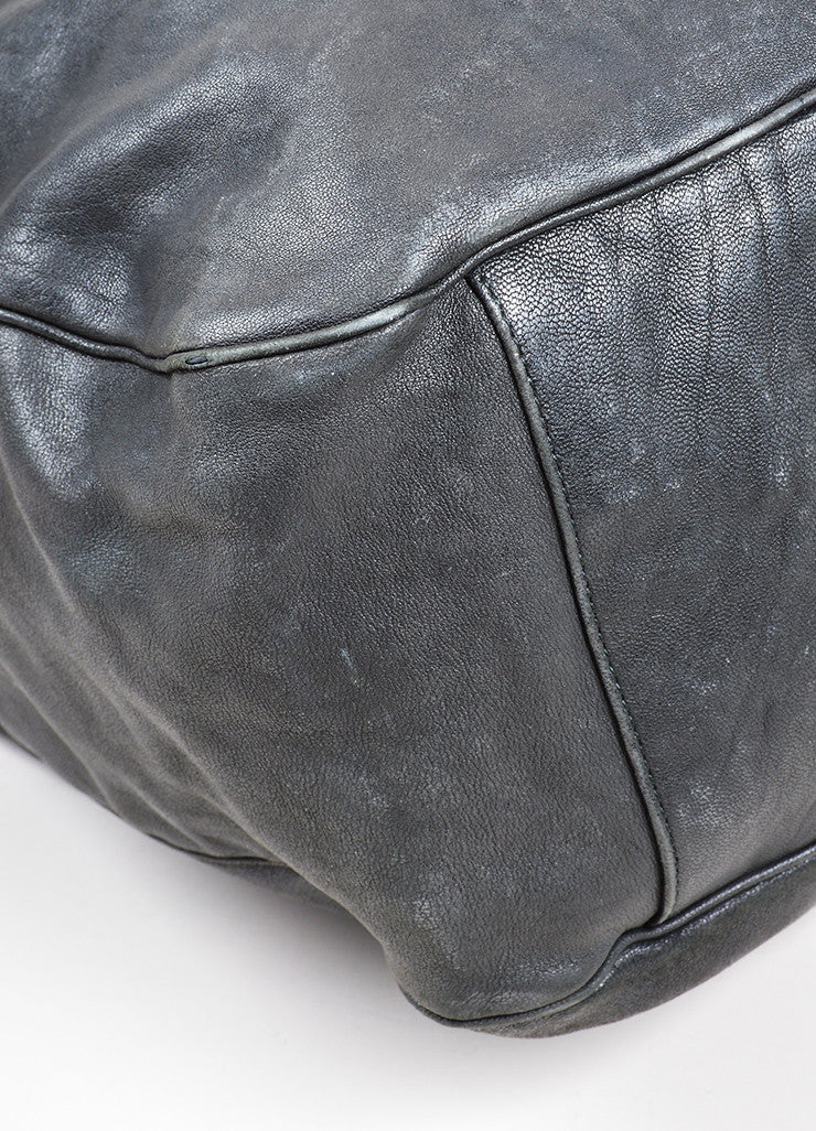"Black Leather Yves Saint Laurent ""Roady"" Hobo Bag Detail"