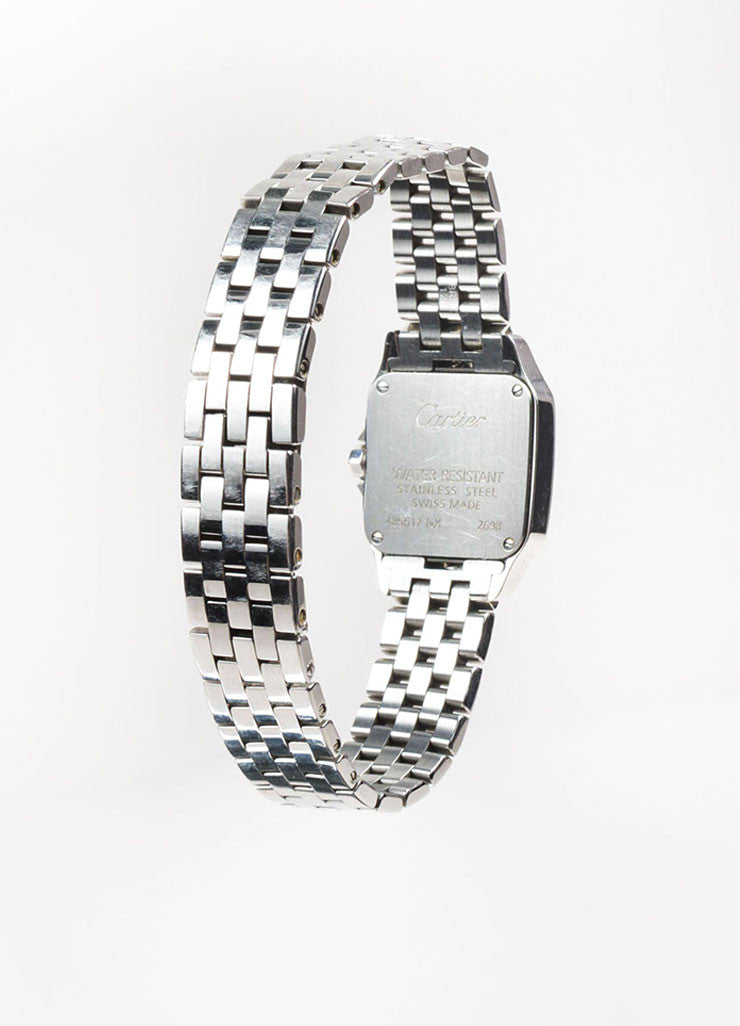 "Stainless Steel Cartier ""Santos Demoiselle"" Quartz Bracelet Watch Backview"