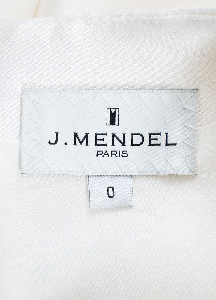 White, Black, and Navy J. Mendel Silk Scuba Short Sleeve Color Block Dress Brand