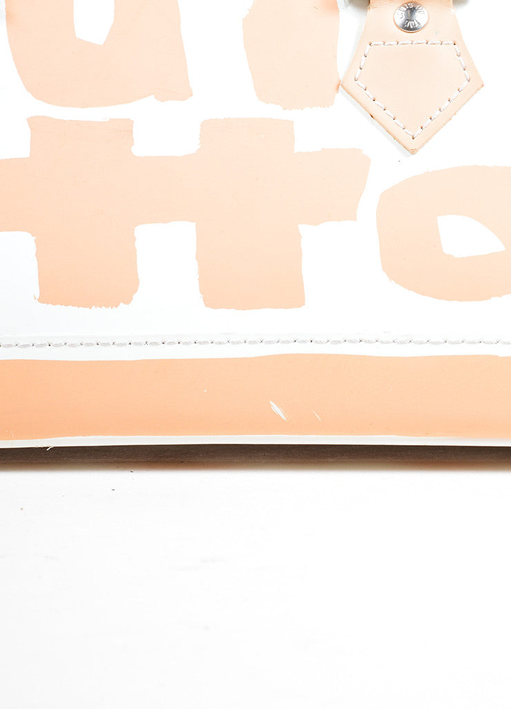 Louis Vuitton White and Tan Graffiti Horizontal Bag Detail 2
