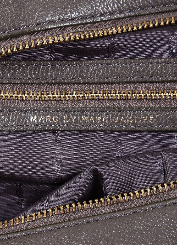 Marc by Marc Jacobs Taupe Leather Satchel Bag Brand