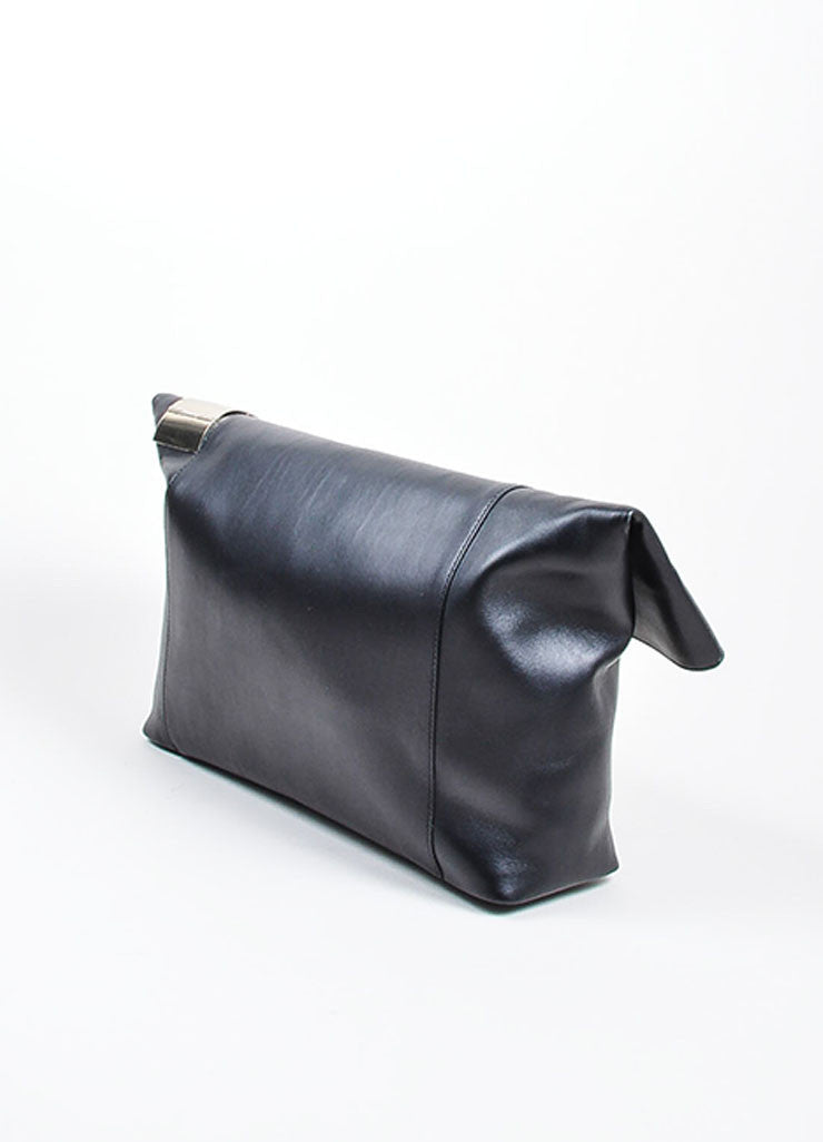 "Black ̴å«?ÌÎÌÏVictoria Beckham Leather Foldover ""Talullah"" Large Clutch Bag Sideview"