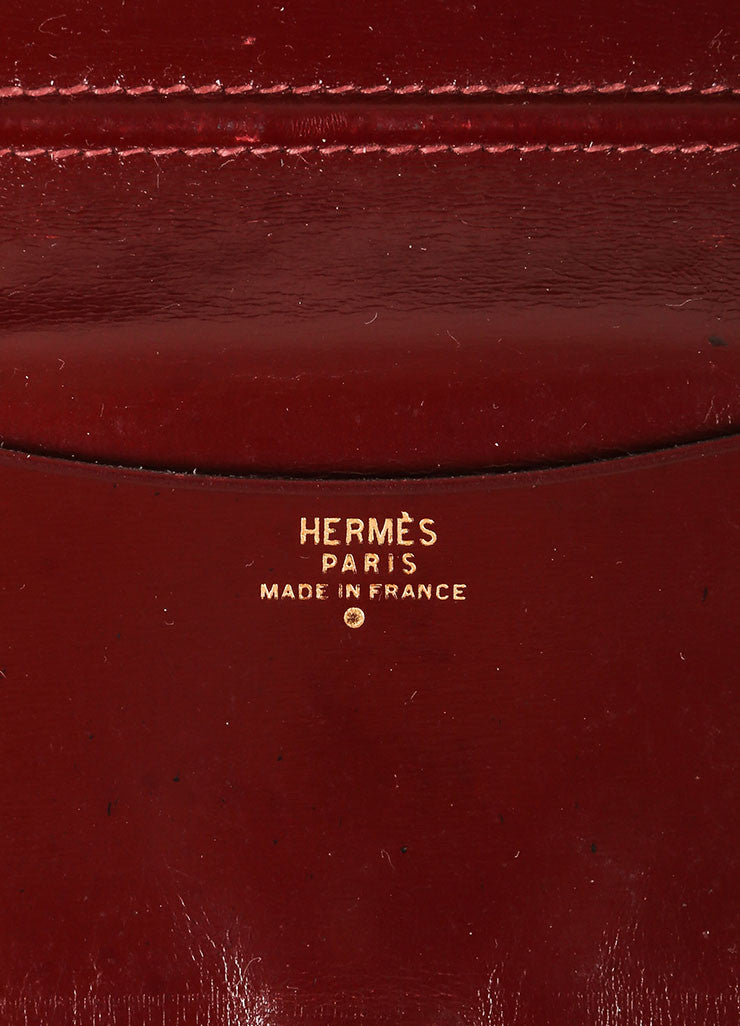 Hermes Burgundy Crocodile Leather Mini Agenda Cover Brand