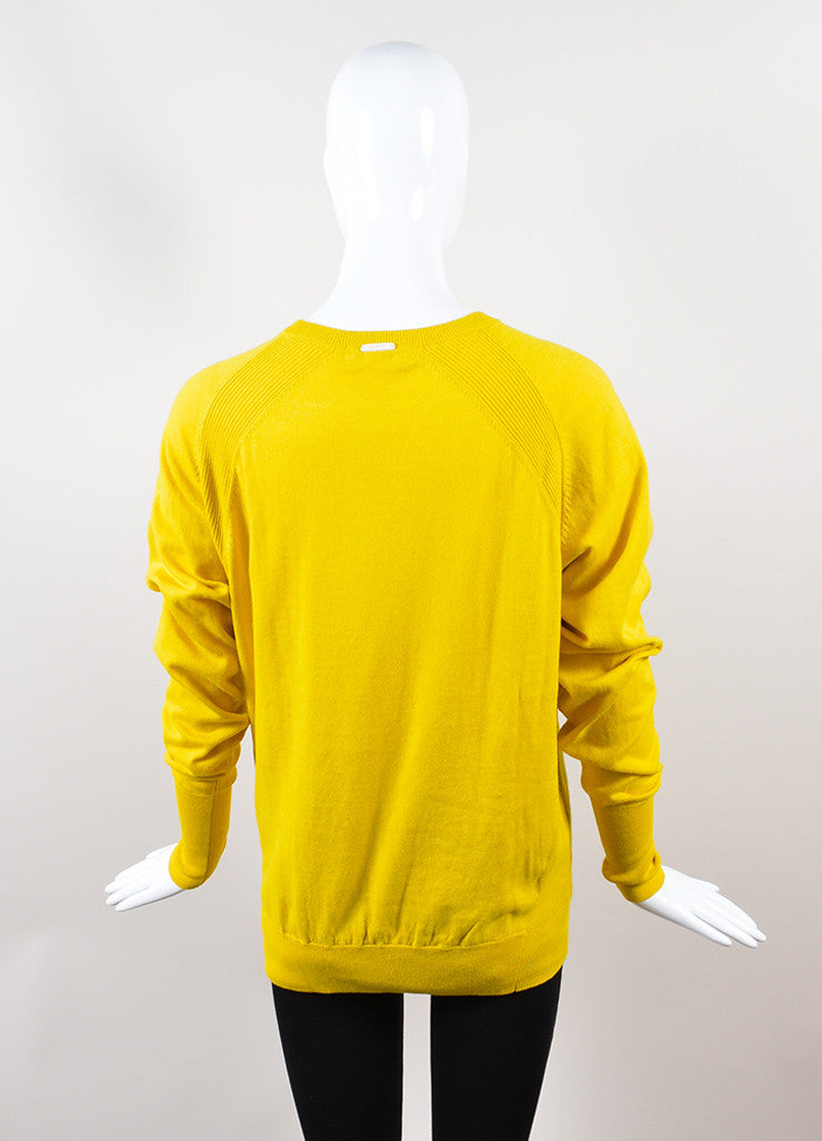 "Yellow, Black, and Red Venerta ""NY"" Long Sleeve Sweatshirt Sweater Backview"
