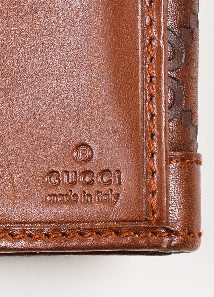 "Gucci Brown ""Guccissima"" Leather Monogram Two Sided Snap Long Wallet Brand"