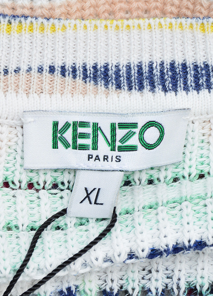 "Kenzo Multicolor ""Torn Paper"" Print Short Sleeve Sweater Brand"
