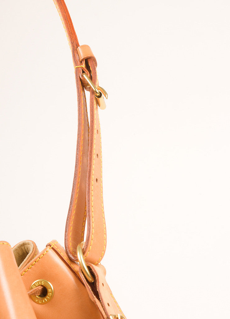 "Louis Vuitton Tan Vachetta Leather ""Noe"" Large Bucket Bag Detail 3"