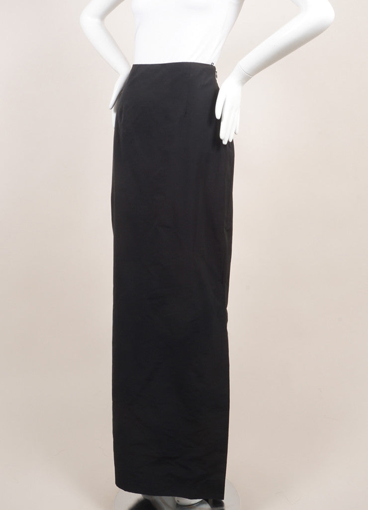 Rosie Assoulin New With Tags Black Floor Length Maxi Skirt Sideview