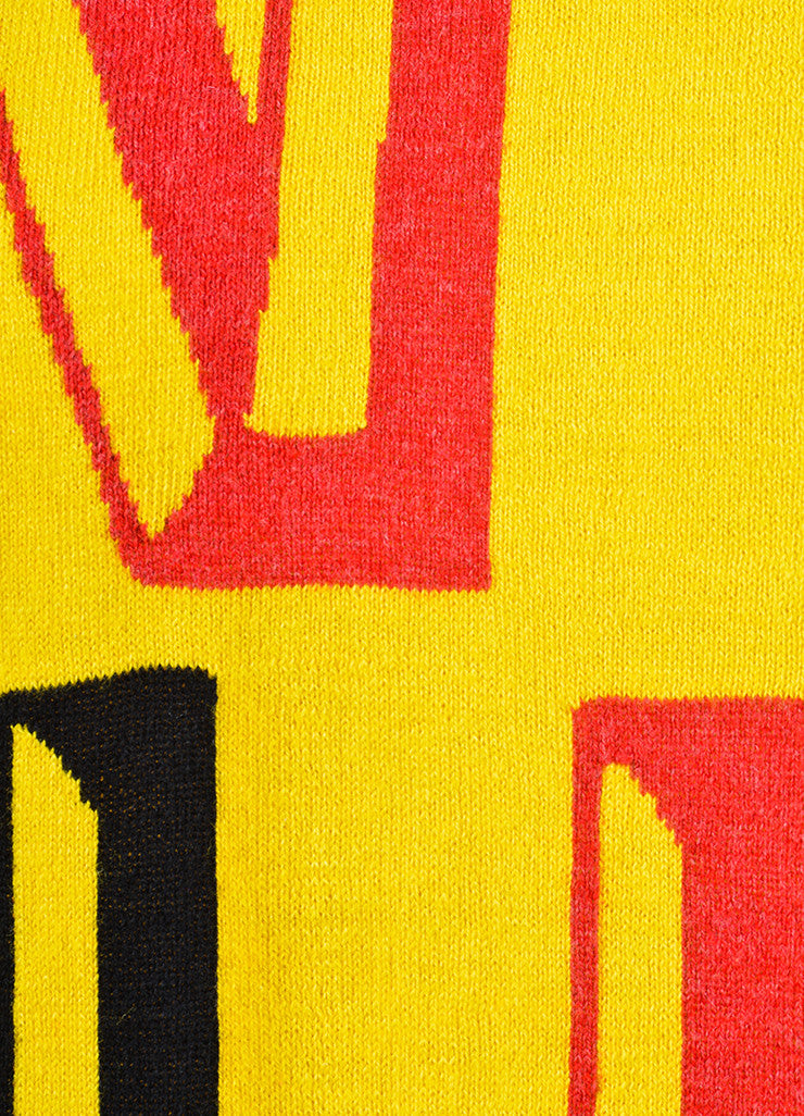 "Yellow, Black, and Red Venerta ""NY"" Long Sleeve Sweatshirt Sweater Detail"