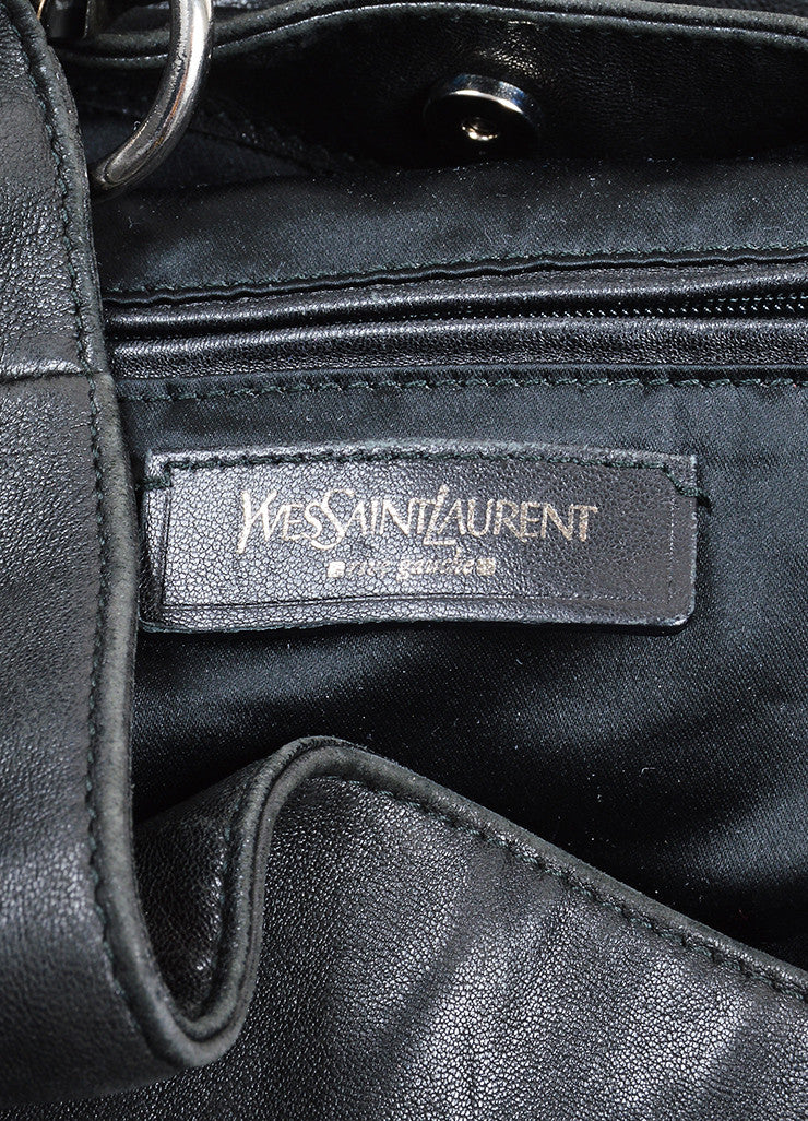 "Black Leather Yves Saint Laurent ""Roady"" Hobo Bag Brand"