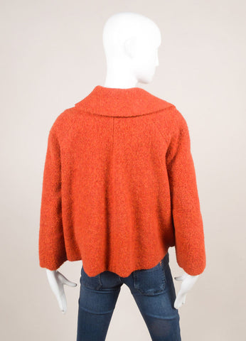 Akris New With Tags Red Alpaca Short Swing Jacket Backview
