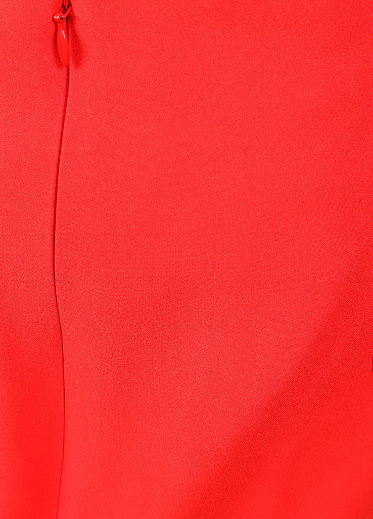 Alexander McQueen New With Tags Red Crepe Ombre Pencil Skirt Detail