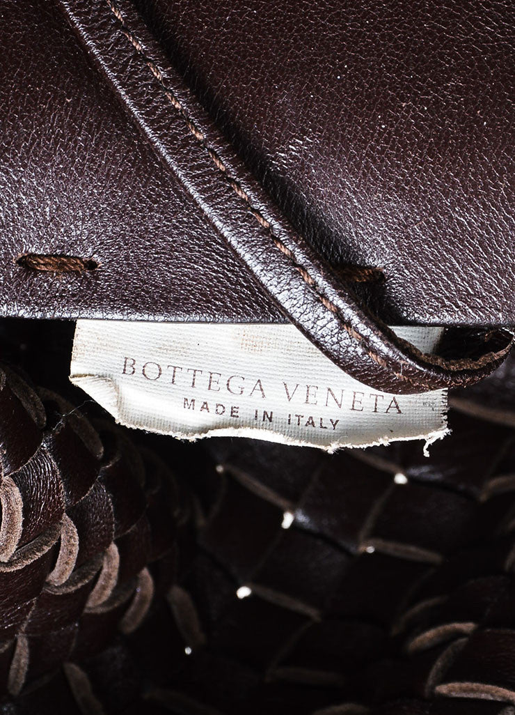 "Brown Bottega Veneta Woven Leather ""Medium Cabat"" Tote Date"